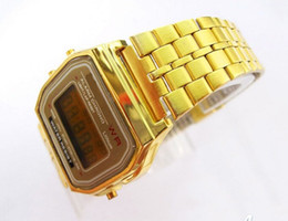 Wholesale Gold Pins Electronic - Fashion F91W Sports watch Foreign Trade watch a159w steel belt of thin electronic watch f91w Sport watch 13 Colors