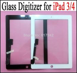 2019 a23 q88 écran tactile Pour iPad 3 Écran tactile Écran tactile En Verre Digitizer LCD Écran Tactile Remplacement Pour iPad 4 Pour iPad3 DHL Livraison Gratuite
