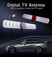 Wholesale Mobile Booster Antenna - Digital TV Active Antenna Mobile Car Digital DVB-T ISDB-T Aerial with a Amplifier Booster+Free shipping