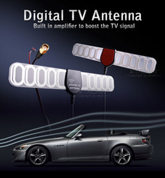 Wholesale Dvb T Antenna Amplifier - Digital TV Active Antenna Mobile Car Digital DVB-T ISDB-T Aerial with a Amplifier Booster+Free shipping