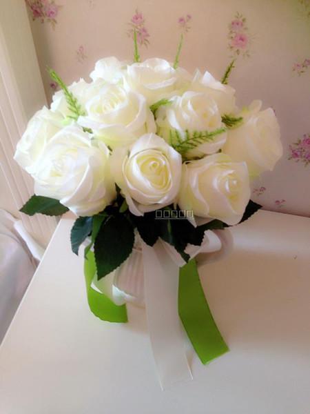 Bouquet fleurs blanches artificielles - Bouquet de rose artificielle ...