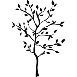 China Free Shipping Black Tree Wall Murals Branches Vinyl Wall Stickers Modern Room Decor suppliers