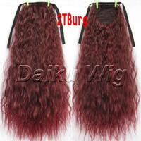 kızlar atkuyruğu saç uzantıları toptan satış-10 adet / grup moda kız 1 adet Saç Parça Mısır sıcak rulo At Kuyruğu Pony Tail LADY paketlenmiş Saç Uzatma ücretsiz kargo