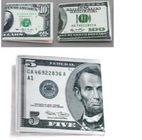 Wholesale Dollar Bill Wallets - 100 Dollar Bill Money Wallet Man Wallet Chic Womens Mens Unisex Currency Notes Dollar Pound Pattern Wallet Purse