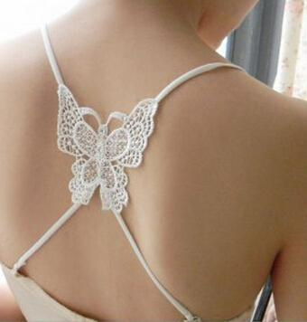 Mode Hot Sexy Cross Fashion Bra Straps Lace Butterfly Bra axelremmar Nödvändig sommar