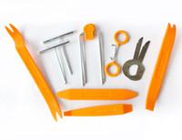 automatische trimmentfernungstools großhandel-Brand New 12 stücke Auto Auto Radio Tür Clip Panel Trim Dash Audio Entfernung Installer Hebel Werkzeug