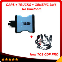 Wholesale Bmw Top Box - 2017 Top selling No bluetooth + car cables tcs cdp pro plus with led 3in1 2014.2 version Multi-language Carton box Free shiping
