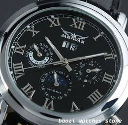 Wholesale Jaragar Luxury Auto Mechanical Watches - Hot sell Luxury JARAGAR brand Watch,Automatic Watch Steel Mens wristwatch JR13