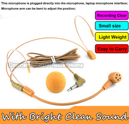 Speakers Colour Canada - 1Pcs Flesh Colour Top Quality Condenser Vocal Wired Headset Microphone For Voice Amplifier Speaker Teaching Meeting With Bright Clear Sound