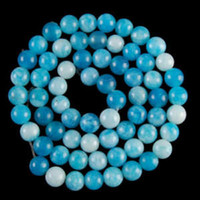 8мм Интригующий <b>Sky Blue Jade</b> Ball Loose Beads 15 '' 2pc / lot