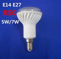 Wholesale E14 Smd Led Bulb - New Arrival R50 Bulb Light E14 E27 5W 7W Ceramic LED Bulb Lamp Light 5730 SMD Warm White Color R50 E27 E14 Bulb Light LED Lighting