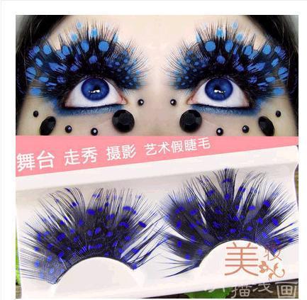 2018 Masquerade stage false eyelashes colourful False Eyelashes hot sale Long False Eyelashes Purple