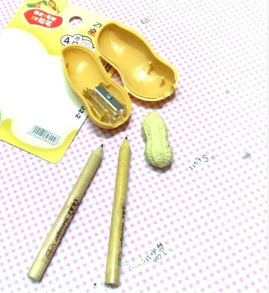 New Arrival Cute Children Gift Stationery Set2 Pencils , 1 Eraser, 1 Pencil SharpenerFor Student The Best Gift