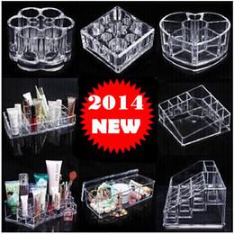 Wholesale Lipstick Make Up Display - Beautician Crystal Cosmetics Storage Box Lipstick Holder Make-up Display Desktop 13 style free shipping