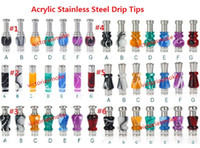 Wholesale Cheapest Ce4 Clearomizer - Cheapest Acrylic and Stainless Stee Hybrid drip tip 510 901 mouthpiece fit CE4 VIVI NOVA DCT EE2 Atomizer Clearomizer E Cigarette Drip Tips