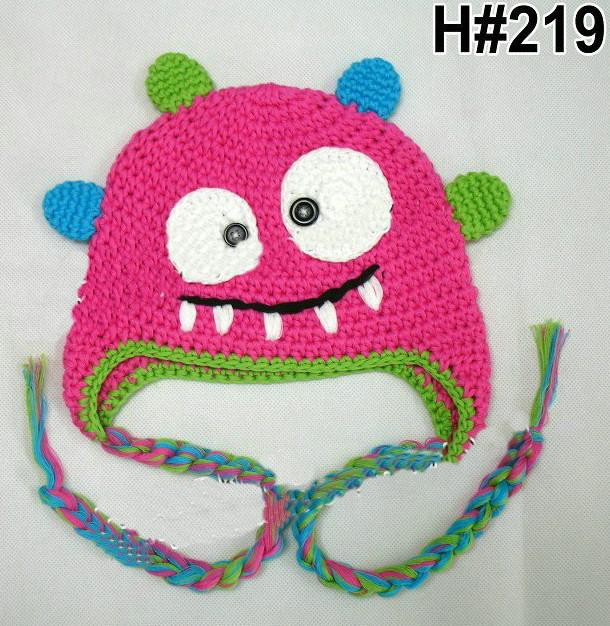 9df466aba5f0c 2019 Autumn Winter Crochet Monster Knitted Cap Newborn Infant Toddler Baby  Boys Girls Christmas Hat Children Kids Cartoon Animal Beanie Mix Color From  ...