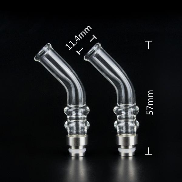 2014 Bending Glass pyrex drip tips glass drip tip with factory price fit for all ego/510 atomizers clearomizers Electronic cigarettes
