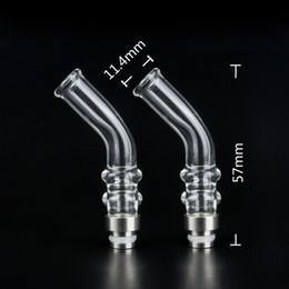 Wholesale Ego Clearomizers - 2014 Bending Glass pyrex drip tips glass drip tip with factory price fit for all ego 510 atomizers clearomizers Electronic cigarettes