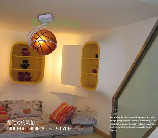 Grosshandel Moderne Einfache Deckenleuchte Schlafzimmer Lampe Kinderzimmer Leuchten Fussball Lampe Basketball Beleuchtung Kinderbeleuchtung Von