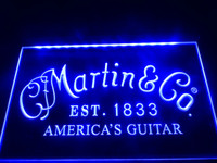 Wholesale Guitar Red Blue - LL169b- Martin Guitars Acoustic Music LED Neon Light Sign