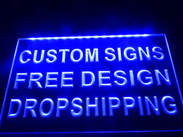 Wholesale White Home Decor - design your own custom Light sign hang sign home decor shop sign home decor