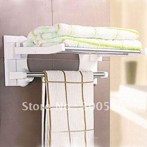 2018 H223 Foldable Bath Towel Shelf Towel Rack Bathroom Shelves From ...
