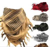 Wholesale army airsoft masks for sale - Tactical windproof Muslim Hijab Shemagh Desert Arabic Keffiye Airsoft Shemagh Kafiya Scarf Mask
