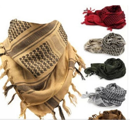 Wholesale Headbands Hijab - Tactical windproof Muslim Hijab Shemagh Desert Arabic Keffiye Airsoft Shemagh Kafiya Scarf Mask