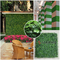 Wholesale Hedge Artificial - SGS certificate UV protected artificial fake boxwood mat 50cmX50cm synthetic hedges fake foliage grass mat for garden-G0602A001C-1