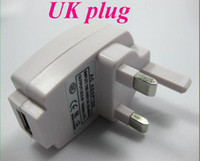 Wholesale I Phone Wall - 200pcs lot *5V 1A USB UK plug wall Charger AC Adapter For IPhone 5s 5c 4s  i samsung s4 s3  all mobile phone