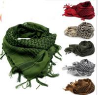 taktische shemagh großhandel-Taktische winddichte muslimische Hijab Shemagh Wüste arabische Keffiye Airsoft Shemagh Kafiya Schal Maske