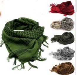 Wholesale Shemagh Tactical Desert Scarf - Tactical windproof Muslim Hijab Shemagh Desert Arabic Keffiye Airsoft Shemagh Kafiya Scarf Mask