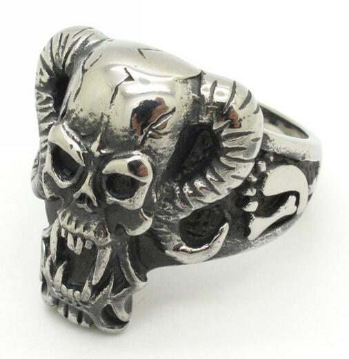 Ugly Wedding Rings: Size 8 13 Gothic Biker Style Vampire Man Ring Jewelry,Ugly