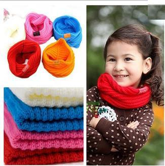 Hot Sale all-match candy color little princess muffler scarf 5color white pink red blue orange 10pc/lot