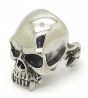 Wholesale Unique Style Engagement Rings - Mens Jewelry,Gothic Style Fashion Guge Stainless Steel Rock Biker Unique Design Ghost Skull Vampire Rings For Men Silver New