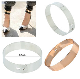 Wholesale Punk Cuff Ring - 30% off Fashion Punk Rock Mirror Metal Anklet Ankle Foot Cuff Bracelet Bangle Ring Gold [B631*10]
