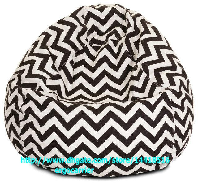 2018 Adults Size Gamer Beanbag Xxl Limited Offer Outdoor Bean Bag Chair Pearl Sofa Seat Black And White Zigzag Chevron From Ergocarrier