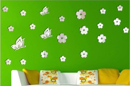 butterfly children room NZ - New Amazing! Wall Decal Sticker Children Room Butterfly & Flower Wall Sticker Acrylic Crystal Decoration DIY Fun New Peculiar 3D Wall Poster