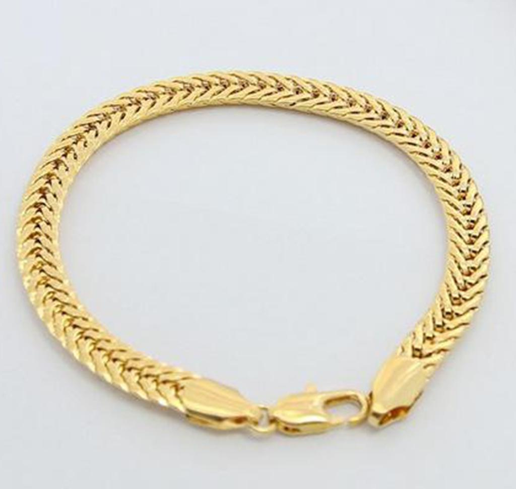luxury men gold thick real design big bangle plated trendy size chain desc gift product jewelry bracelet woman