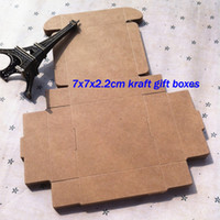 Wholesale 7x7x2 cm case kraft paper Box DIY soap Gift Craft Packaging Box Vintage small gift case7
