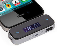 Wholesale Iphone5 Car Transmitter - New Mini Wireless 3.5mm Car FM Transmitter for iPhone5 5S