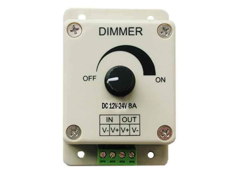 Regolatore dimmer PWM luci a LED o nastro 3528 5050 Strip 12V 8A Dimmer manuale
