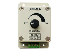 dimmer manual NZ - PWM Dimming Controller For LED Lights or Ribbon 3528 5050 Strip 12V 8A Manual Dimmer 10pcs
