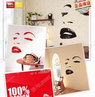 monroe çıkartmaları toptan satış-Yaratıcı 3D Marilyn Monroe Ayna Sticker DIY Eğlenceli Duvar Çıkartması Sticker Kanepe TV Backgroud Duvar Sticker Çocuklar için İnanılmaz Hediye, Sweethome123