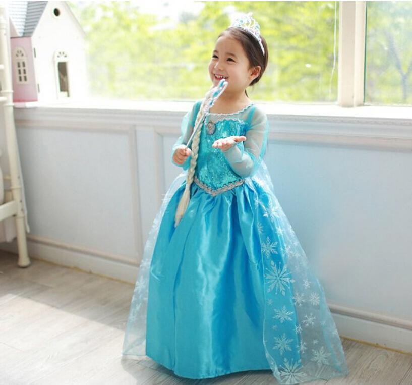 Großhandel Mädchens Schönes Kleid Elsa Sommer Kleid Prinzessin Kleid ...