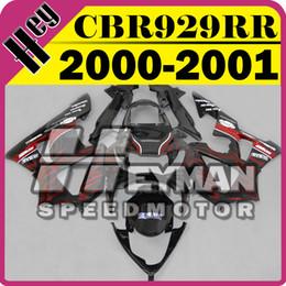 Wholesale Cbr929rr Aftermarket Fairings - Heymanspeedmotor Aftermarket Injection Mold Fairing For Honda CBR900RR929 CBR 900 RR 929 2000 2001 00 01 Red Flames H90H22+5 Free Gifts