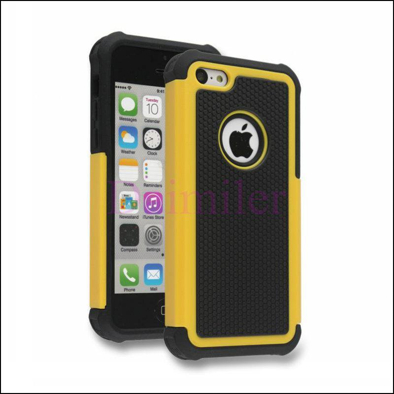 cheap iphone 4s cases hybrid rugged heavy duty rubber robot silicone pc 9110