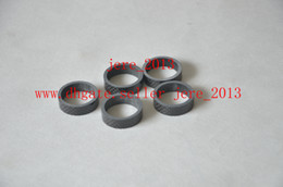 Wholesale Front Mountain Bicycle Fork - 5 pcs lot Full Carbon Fiber Bicycle Bike headset washer set fork into a bowl front riser pad ring gasket 5mm 10mm