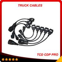 cdp plus için kamyon kablosu toptan satış-Yeni tam set 8 kablolar cdp tuck kabloları tcs CDP pro artı otomatik kamyon kabloları en iyi fiyat ve en kaliteli