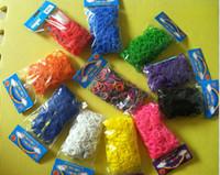 gummibänder für webmaschinen großhandel-Neue bunte Regenbogen Webstuhl Bands 300pcs Gummibänder ofr DIY Schmucksachen gute Qualität geben Verschiffen frei